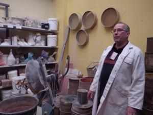 Patrick Fischer dans son atelier - photo Carine Mayo