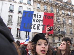 Le 11 janvier 2015 à Paris - photo  @ Florence Faucompré