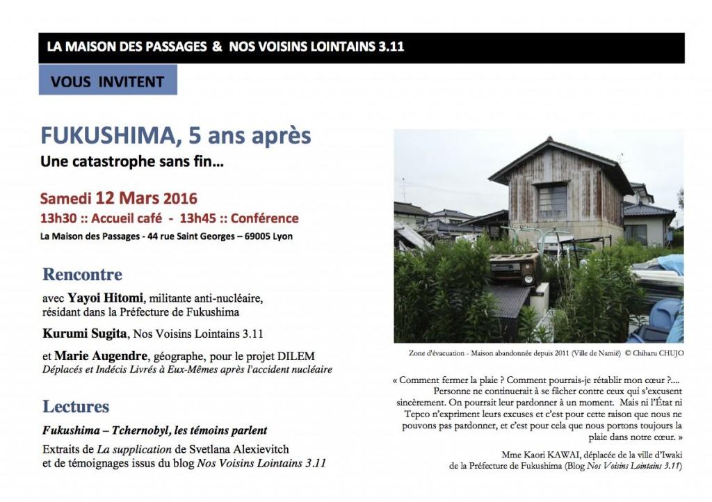 Fukushima 5 ans apr__s 12 mars MDP